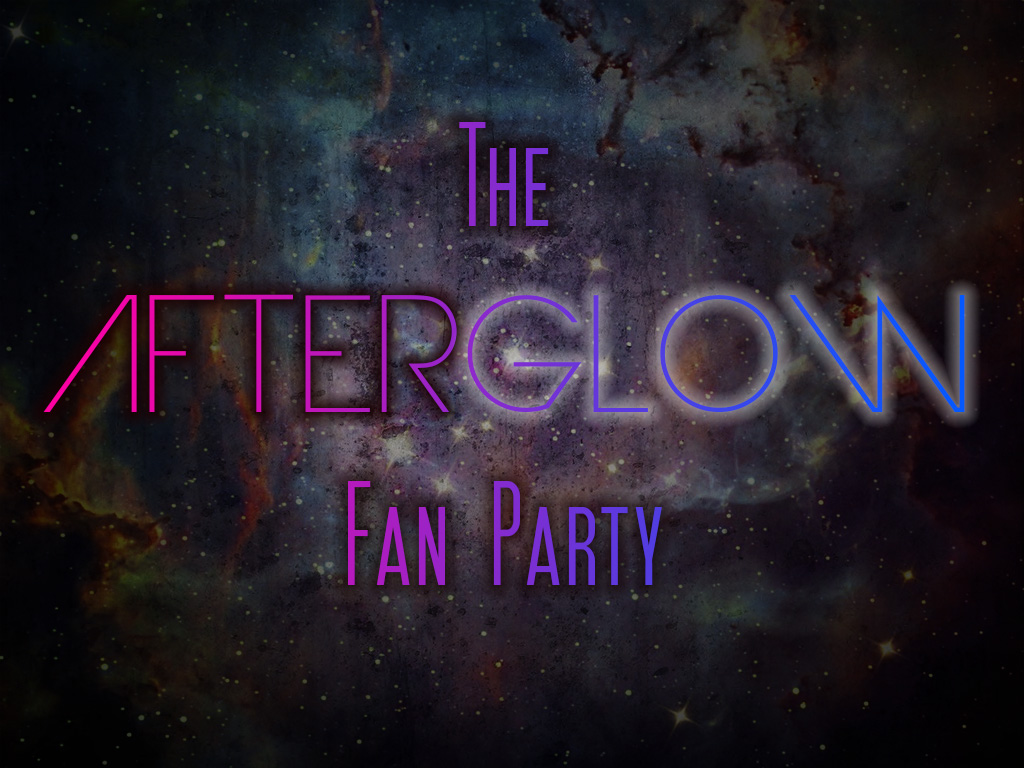AfterGLOW Fan Party banner